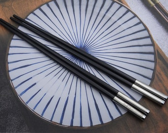 Personalized Stainless Steel Fiberglass Plastic Chopsticks, Custom Laser Engraved Chopsticks, Special Unique Keepsake, Best for Asian Food