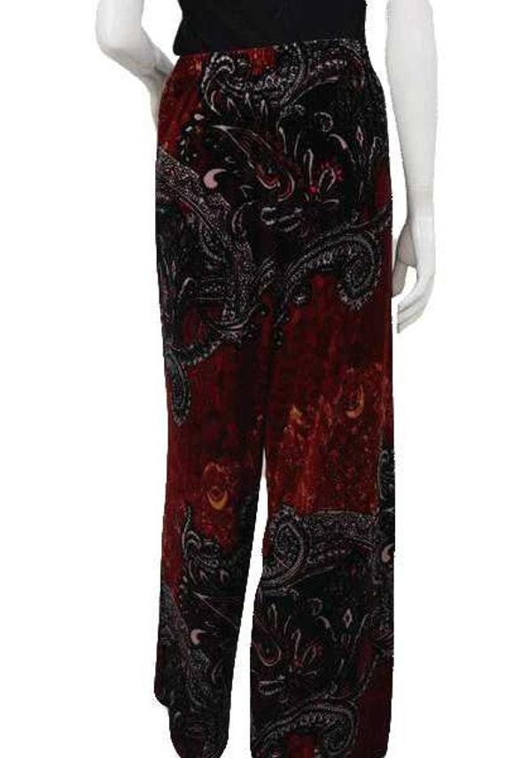 Sunny Leigh 90's Printed Velour Pants Size XL SKU… - image 3