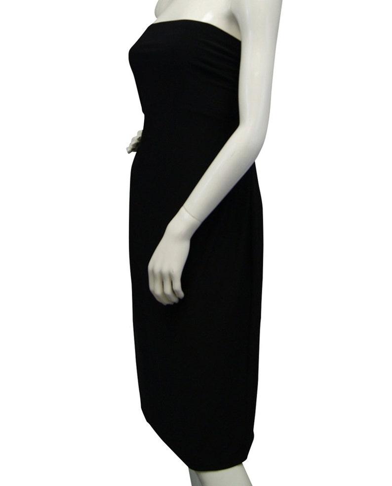 NORMA KAMALI Dress Strapless Black Sz Xxl