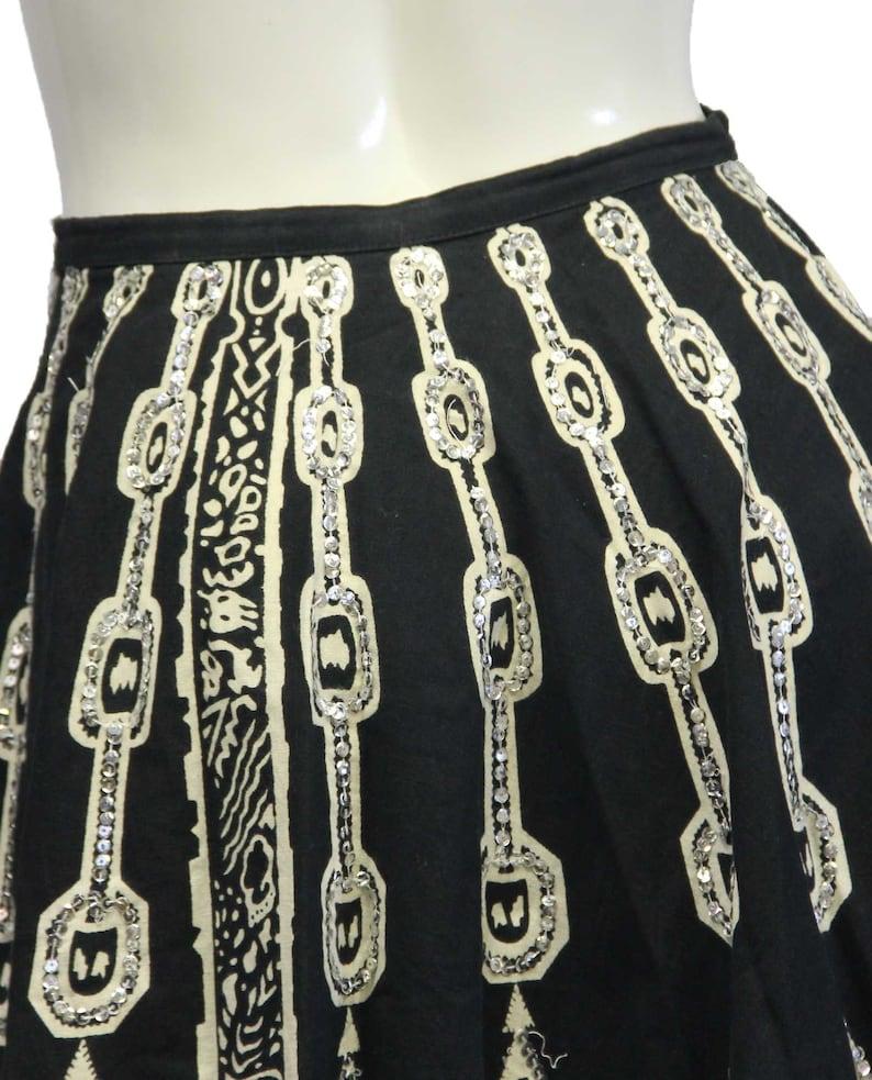 Mix Nouveau Boho Skirt Black /& White Embellished Sz M SKU 000026