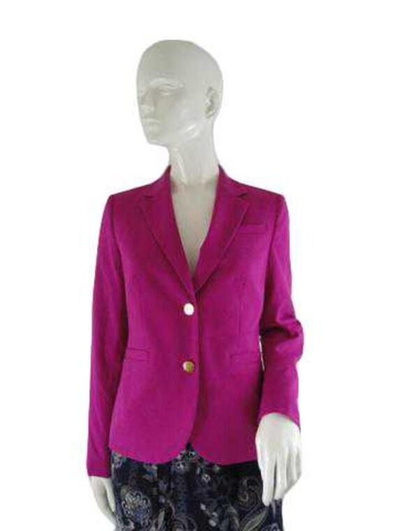Calvin Klein 70's Blazer Hot Pink Size 6 SKU 00003