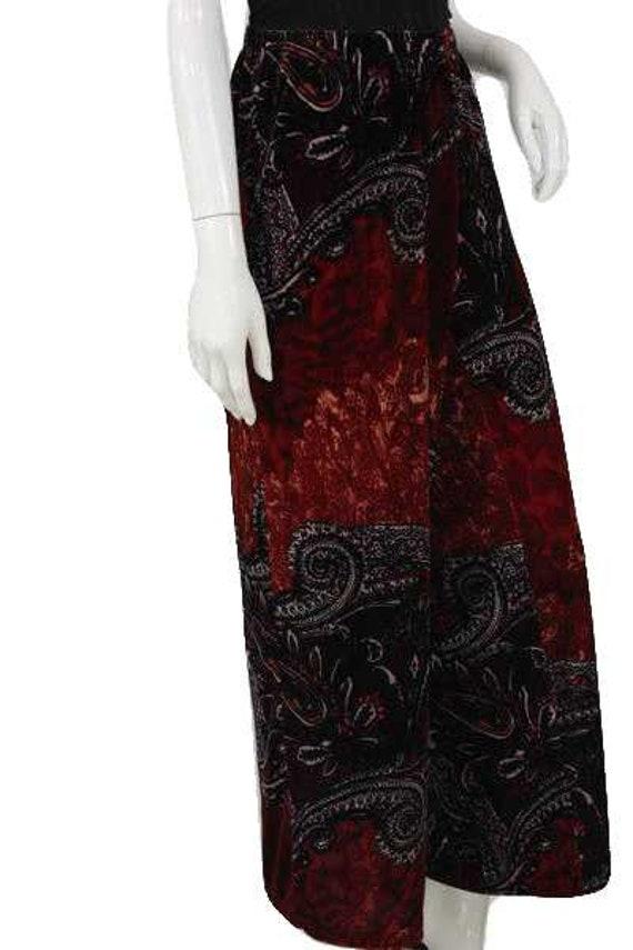 Sunny Leigh 90's Printed Velour Pants Size XL SKU… - image 2
