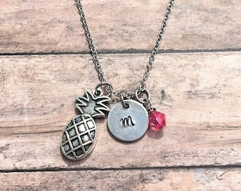 Pineapple Necklace - Pineapple Gift - Silver Pineapple Necklace - Summer Necklace - Initial Jewelry - Pineapple Jewelry - Pineapple
