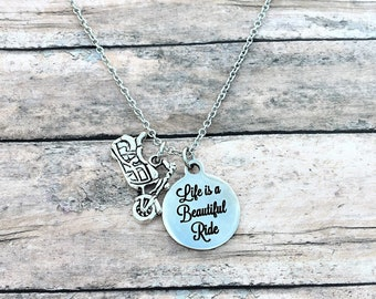 Motorcycle Gifts - Motorcycle Jewelry - Gift for Biker - Motorcycle - Gift for Her - Biker Babe - Beautiful Ride - Motorcycle Necklace