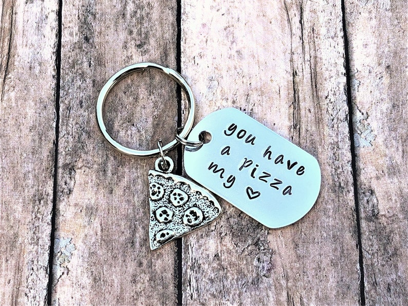 Pizza Keychain  Anniversary Gift  Gift for Him  Pizza Gift image 0