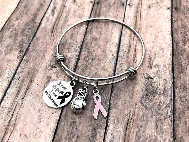 Breast Cancer Survivor Bracelet Breast Cancer Gift | Etsy