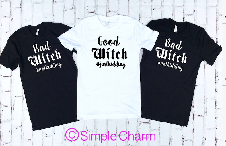 Halloween Friends Shirt.Good Witch Bad Witch Halloween Party Friend Shirts Halloween Shirts Bestie Shirts Halloween Tees Halloween Costume Halloween Shirts