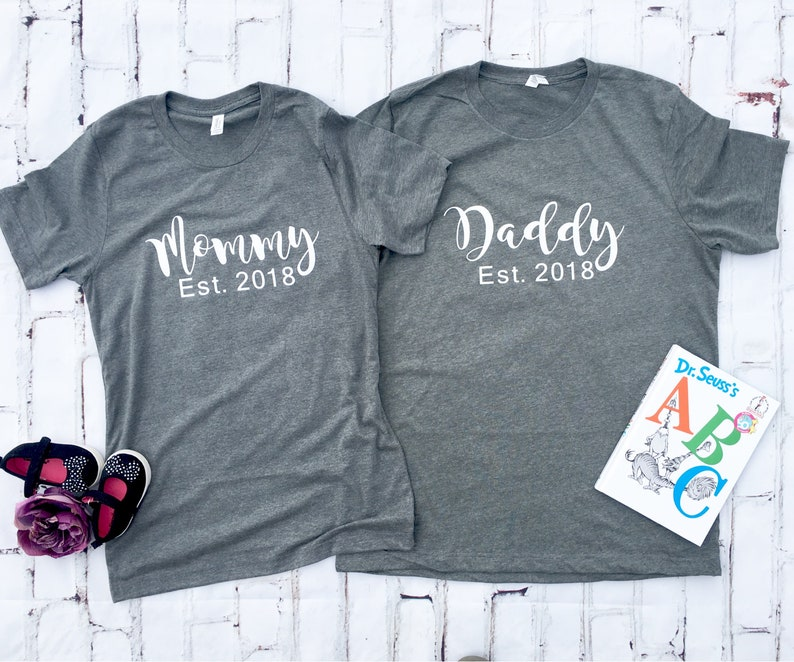 6898ba26 Gender Reveal Mommy Daddy Shirts Custom Mommy Daddy | Etsy
