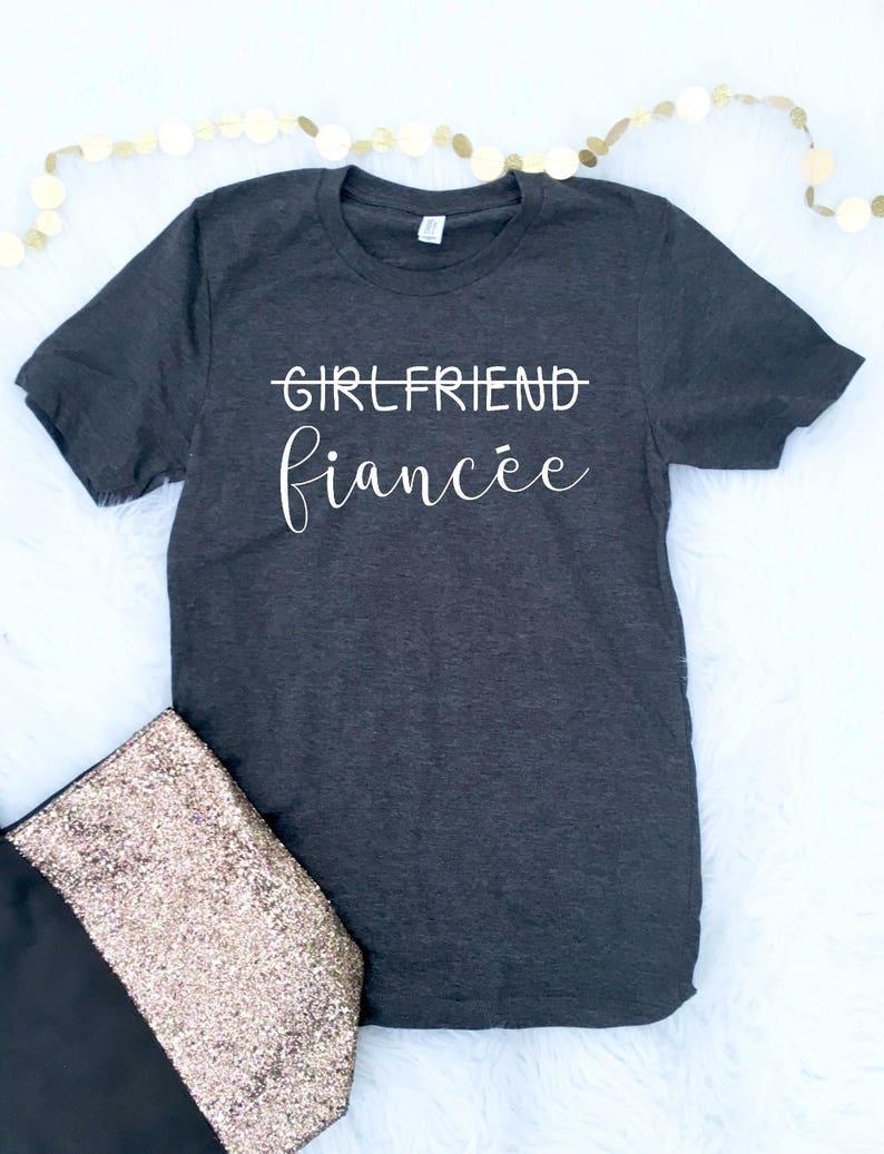 797682e6 FIANCE SHIRT Engaged shirt Fiance Girlfriend Fiance Shirt | Etsy