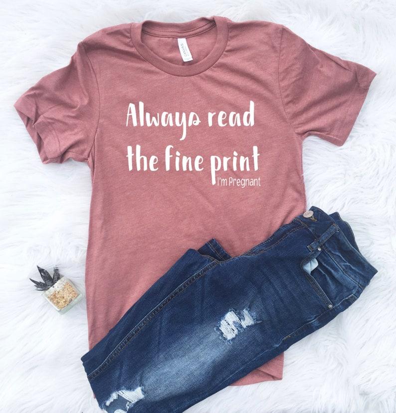 a99971849c74b Pregnancy Shirt Surprise pregnancy reveal Maternity shirt   Etsy