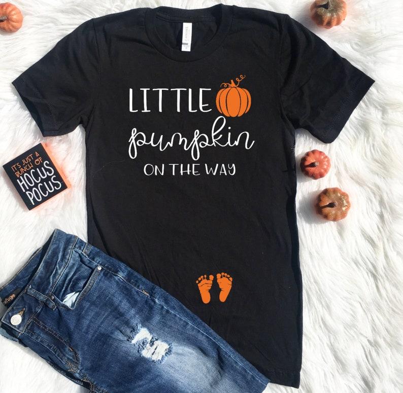 783ac2e672ea4 Pregnancy Halloween shirt Pregnant Halloween Little Pumpkin | Etsy