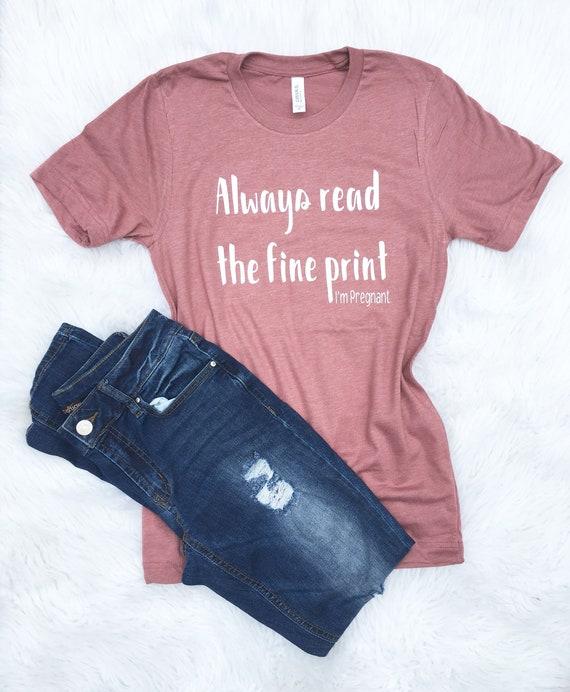 a35591d0684 Pregnancy Shirt Surprise pregnancy reveal Maternity shirt