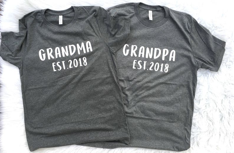 53f6bfe8 Grandma and Grandpa shirts Shirt for Grammy Women's T | Etsy