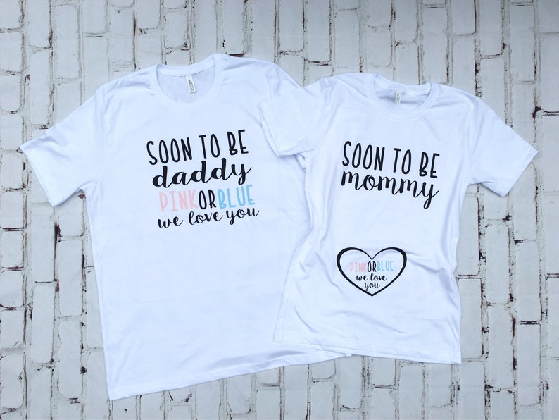 c3db3112 Pregnancy Reveal shirts Gender reveal idea Gender reveal | Etsy