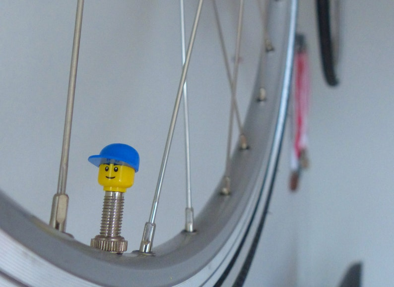 Bike valvecaps made from LEGO ® character parts Suitable on image 0