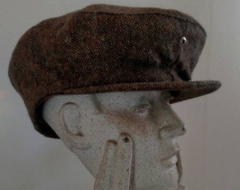bbd73485 Vintage Donegal Tweed Newsboy Cap by Seifter Associates, INC. with a Snap  Front size Large