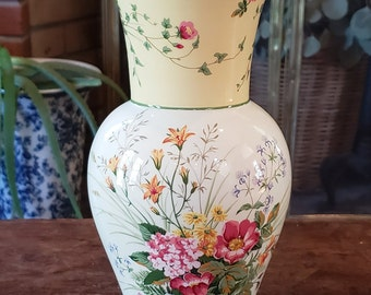 Vintage Laura Ashley FTD Vase - Yellow and Pink Flower Laura Ashley Vase