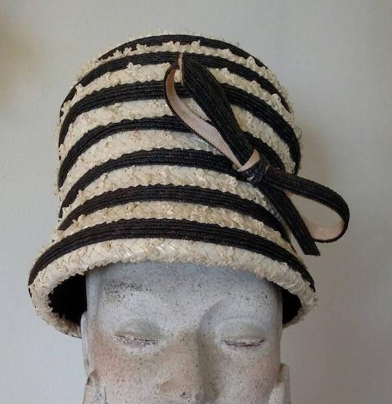 Vintage Miss Dior Straw Toque Hat - 1950s Christia