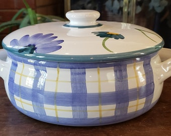 Vintage Caleca Ariosa Pattern Casserole Dish - Ceramiche Ariosa Pattern - made in Italy