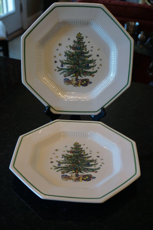 Set of 2 Vintage Large Nikko Dinner Plates/ Christmastime | Etsy