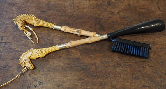 Dress brush and shoe puller of the 50s