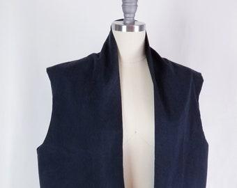 cotton, vest, sleeveless, pockets