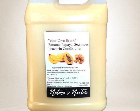 NEW! Refreshing  Banana, Papaya, Sea moss  Leave-in Conditioner