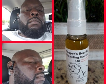 Cooper's Beard And Receding Hairline Oil /For Men/ Mustache Growth/Super Fast Hair Growth Bald Spots Potent Proven Order Today