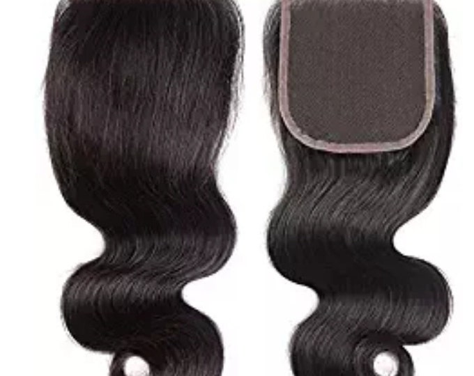 Body Wave Lace Closure- 4x4 -Human Hair  Butter Soft Long Lasting- With Baby Hair- No Tangling