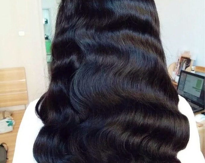 Human 100% Virgin Hair Lace Frontal Wig Edges Pre- Plucked Will Last 1-2 Years Ready For Dye Or Bleach Soft-Full- Minimal Shedding One Donor