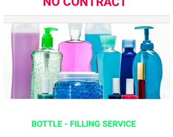 BOTTLE FILLING SERVICE For Your Lotions- Oils- Sugars- Essential Oils- Creams-Serums- Butters- Hair and Skin Formulations