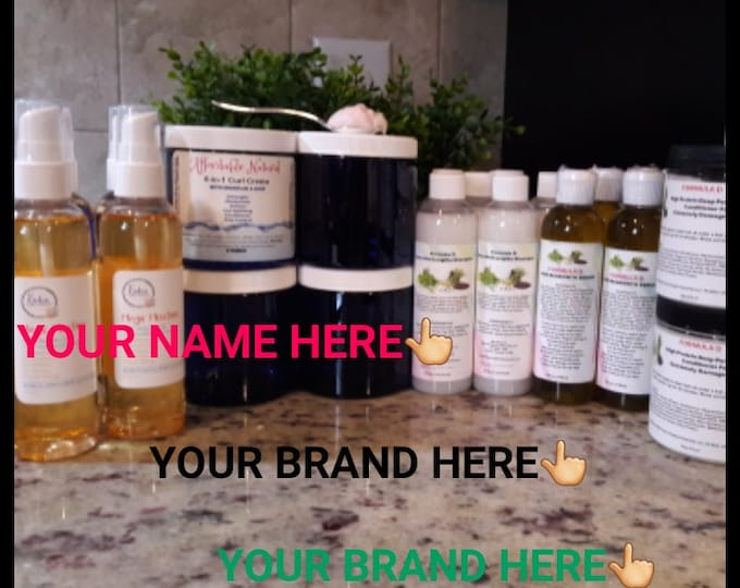 Private Label Hair Care Products-Natural Hair- Your Own Brand-Wholesale 30 Serum 30 Shampoo 30 Conditioner -Your Own Brand-Black Hair Care