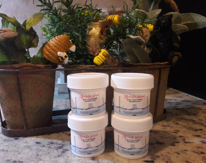 Sample 6 -in- 1 Moisturizing Curl Pudding 4 Jars 1 Ounce Each.