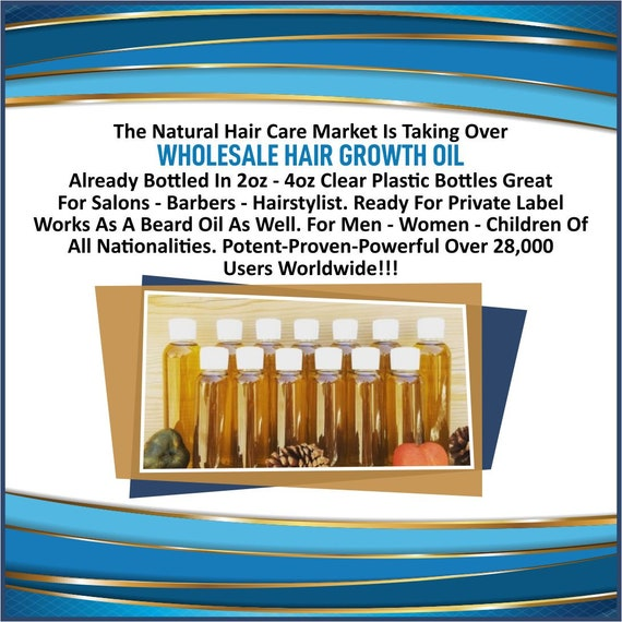 Wholesale Hair Growth Oil Individual Bottles 2oz-4oz Salons /Private Label/Start Your Own Business/Fastest Hair Growth Natural Hair Care