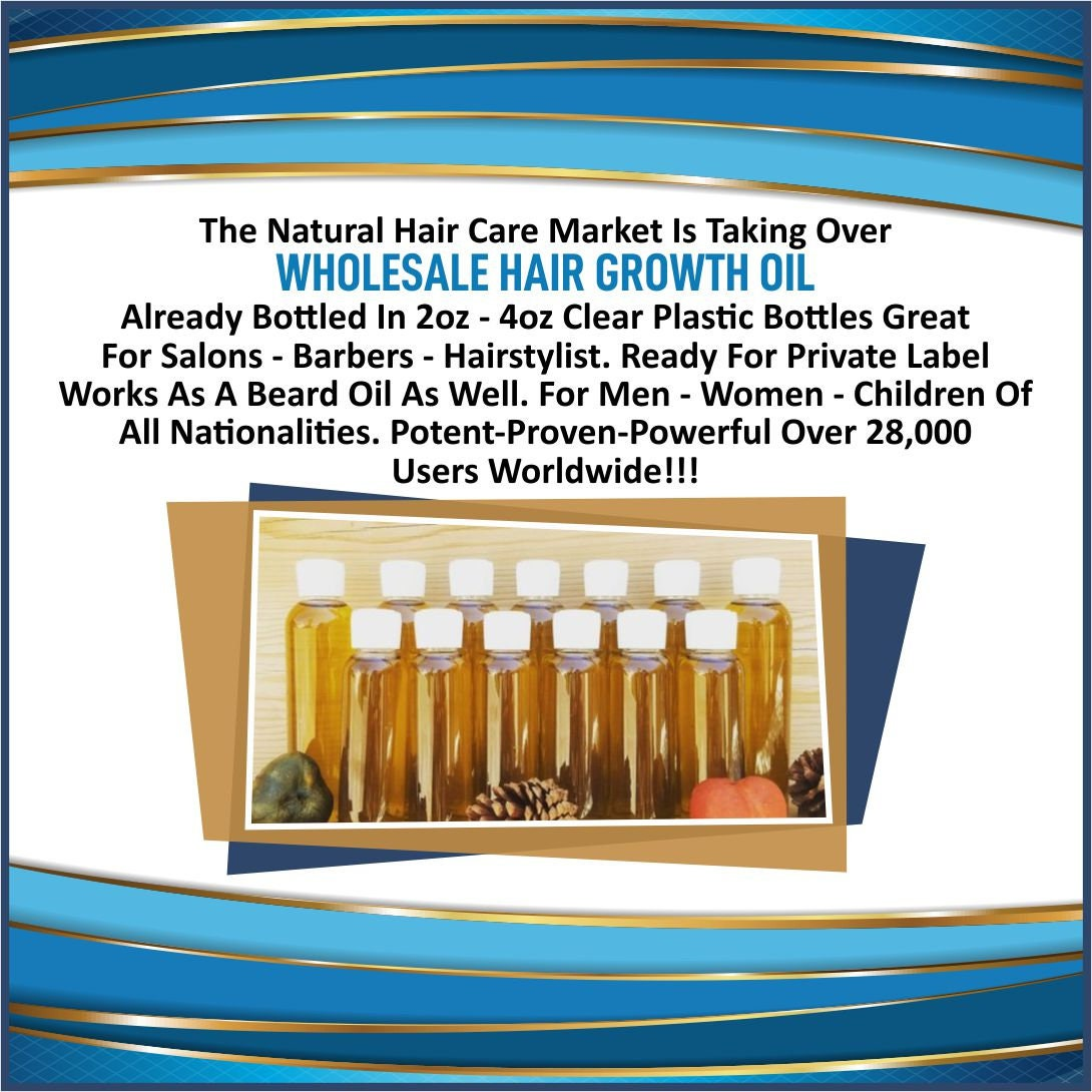 Wholesale Hair Growth Oil Individual Bottles 2oz-4oz Salons /Private