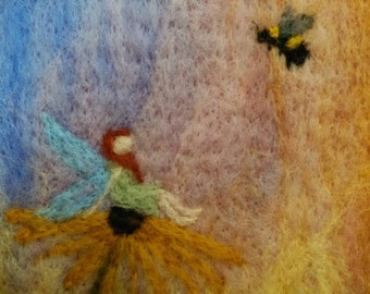 """Felted Wall Art: """"Playmates"""""""