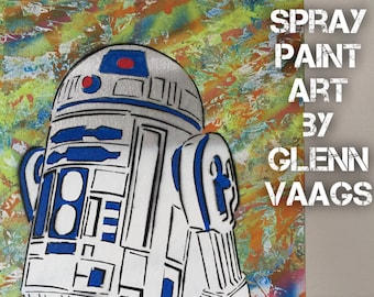 Star Wars R2D2 Spray Painting
