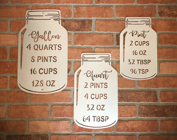 Single or 3 piece set metal Mason Jar set Country Farmhouse Kitchen Signs, Wall, Rustic Metal, Home Decor