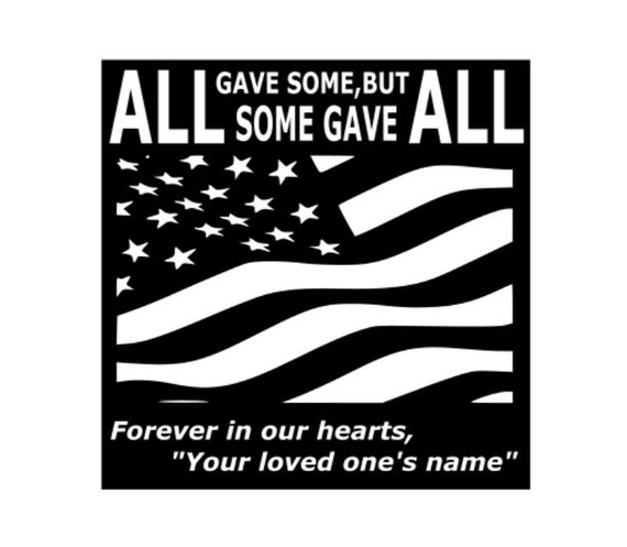 Personalized Fallen Soldier Memorial, In loving Memory. Patriotic, Veteran, Troops, Custom name sign, Metal Marker Military,