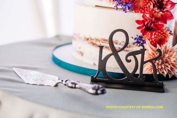 Premium Metal Cake Topper, Table Decor Sign,  Keepsake, Letter, Words, Sayings. Monogram.  Initial Cake Topper.
