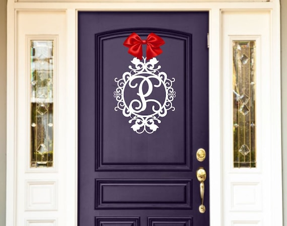 Weatherproof Monogram House Sign, Monogrammed Wreath, Monogram Wreath, Door Monogram, Front Door Wreath, Custom Name Sign, Metal Letters