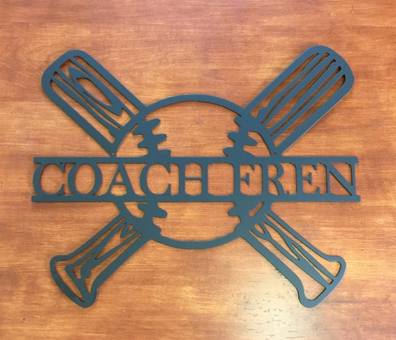 Custom Baseball Softball Sports Sign Wreath, Kids Room Decor, Metal Sign, Personalized Name Sign, Hobbies, Trophy, Football, Wall Art
