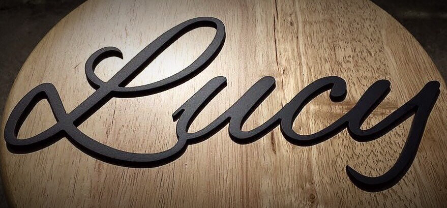 Custom, Personalized Family Name Sign, Metal Name Sign