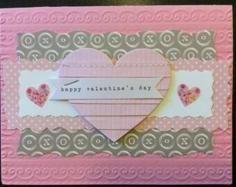 "Valentine, ""Happy Valentine's Day"", Handmade Valentine"