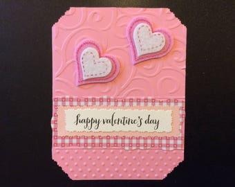 "Valentine - ""Happy Valentine's Day"", Handmade Valentine Card"