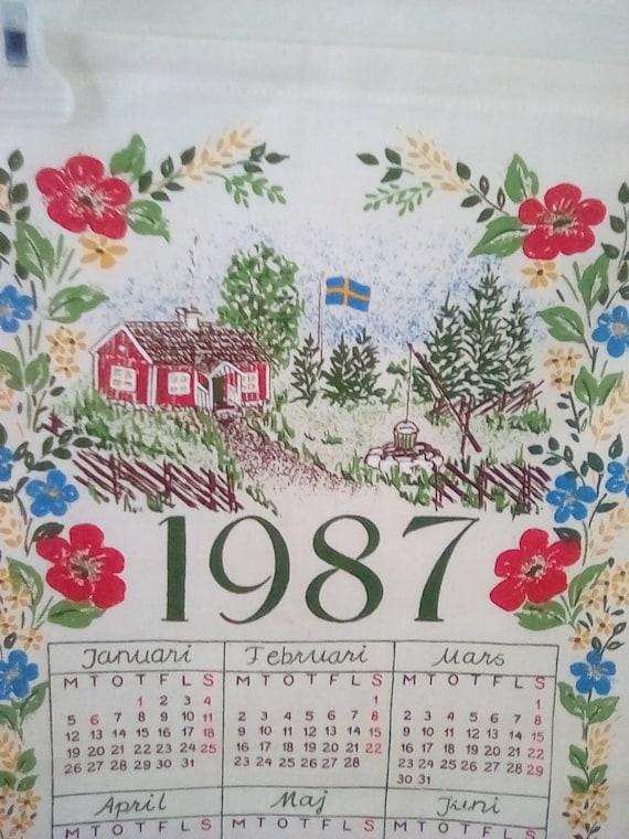 1987 Calendar Etsy