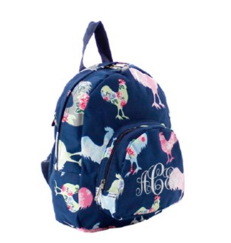 Rooster Backpack Gift Bookbag Personalized Backpack School Embroidered Backpack Backpack Rooster Preschool Monogrammed Backpack