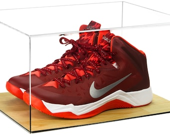 official photos c6367 b96ad Deluxe Acrylic Basketball Shoe Display Case with Wood Floor (A025)
