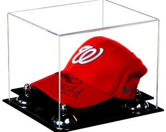 acb7e5f33cc Deluxe Clear Acrylic Baseball Cap Display Case with Risers (A006)