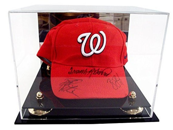80623b0c6ae Deluxe Acrylic Baseball Cap Display Case with Risers Mirror